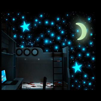 200PCS Stars Glow In The Dark Stickers Wall Decal Kids Baby Home Bedroom Decor - intl - 3