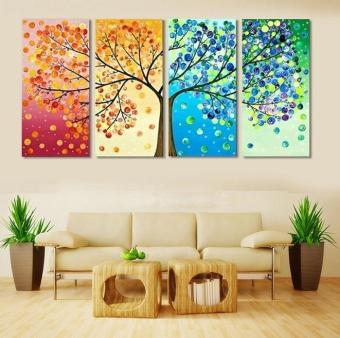 2017 Four Seasons Tree Wall Canvas Painting Art Decoration PicturePrints for Home Living Room Wedding Decration No Frame Gifts - intl