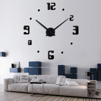 2017 Large Mirror Wall Clocks Modern Design For Gift 3D DIY Big Watch Wall stickers Home Decor Relogio De Parede - intl