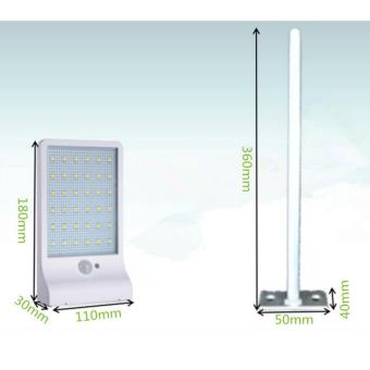 2017 New design Solar Powered Light 36LED with Motion Sensor with Support Pole for Patio, Deck, Yard, Garden(Intl)