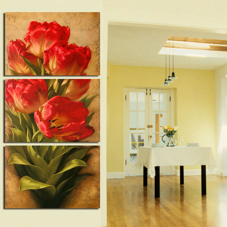 Philippines | 2017 New Hot 3 Pcs Flowers Wall Art Picture Modern ...