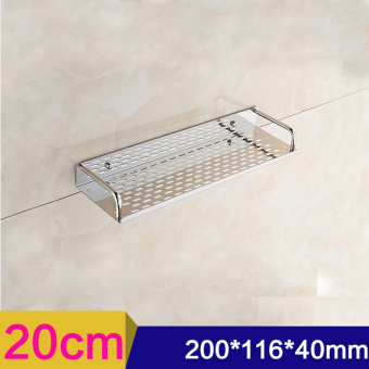 20cm Single Tier Rectangle Bath/Kitchen Rack Bathroom Shelf SpaceStorage For Kitchen Bathroom/Stainless Steel Wall Mounted StorageShelf-Intl Price Philippines