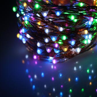 20M 200LED 8Modes Copper Wire Battery Operated Led String LightChrismas Outdoor Fairy Lights Decoration Wedding Garland - intl - 3