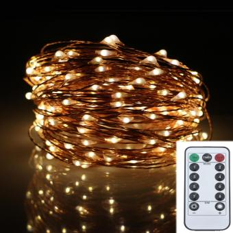 20M 200LED 8Modes Copper Wire Battery Operated Led String LightChrismas Outdoor Fairy Lights Decoration Wedding Garland - intl