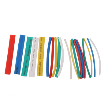 20PCS PVC Heat Shrinkable Tubing Wire Cable Sleeve 4 Sizes 5 Colors