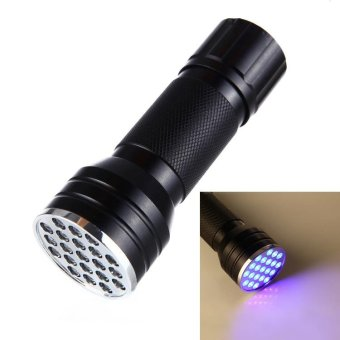 21 LED UV Ultra Violet Blacklight Pocket Flashlight, Mini TorchLight, Portable Lamp Counterfeit Money Detector - intl