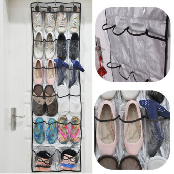 22 Pocket Door Hanging Bag Shoe Rack Hanger Washroom WC Storage Organizer US