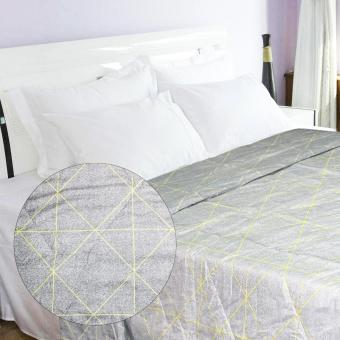 230x200 Queen Size Bed Comforter Diamond (Gray)