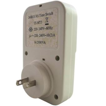 24 Hours Mechanical Electrical Plug Program Timer Power Switch Energy Saver - 3