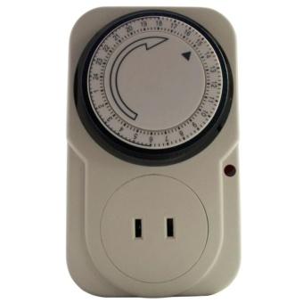 24 Hours Mechanical Electrical Plug Program Timer Power Switch Energy Saver - 2