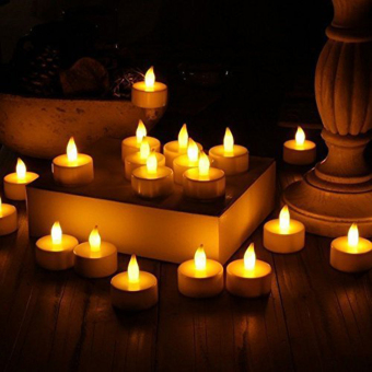 24 LED Tealight Candles Flameless Battery-Powered Candle