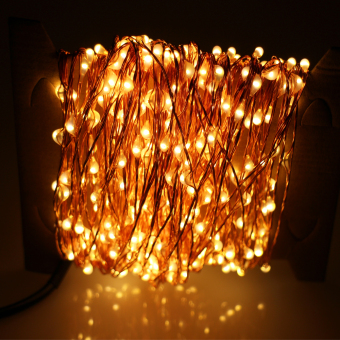 24m 480 LED Outdoor LED String Lights Warm White Copper WireChristmas Starry Fairy Lights+Power Adapter (Warm White) - intl - 5