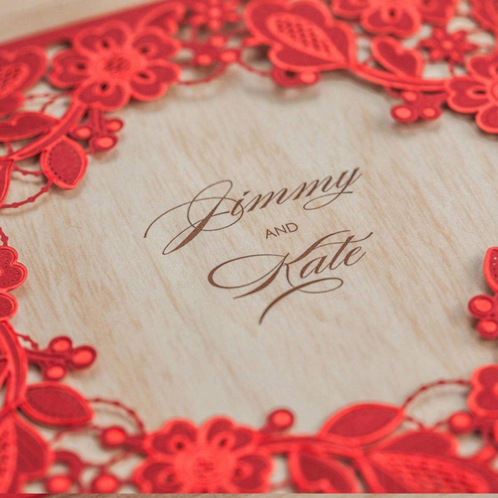 Philippines | 24pcs Laser Cut Lace Flower Invitation Cards Elegant ...