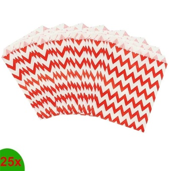 25 Pcs Candy Bag Stripe Treat Bags Gifts Paper Bags - intl