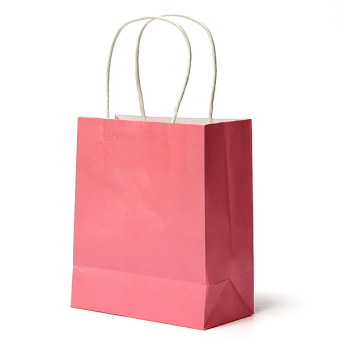 25Pcs Kraft Paper Gift Bag Handles Recyclable Loot Bag Pink Price Philippines