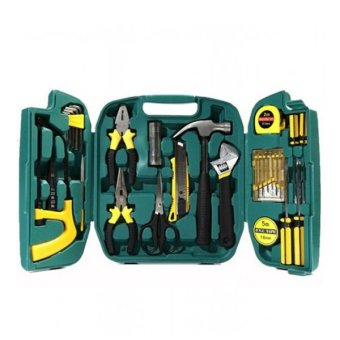 27 Pieces Repair And Maintenance Tool Set (Black/Yellow)