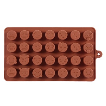 28 Cavities Chocolate Cake DIY Craft Tray Silicone Maker MoldKitchen Tool 18.3 * 10.3CM Coffee - intl Price Philippines