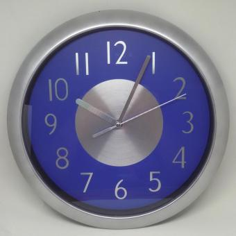 2A 800 Round Analog Wall Clock with Silver Center Design - Blue
