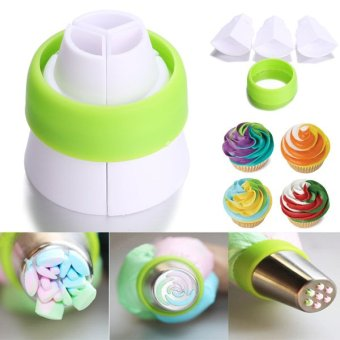 2pc Icing Piping Bag Nozzle Converter Coupler Cake Cream Decor Tool- intl