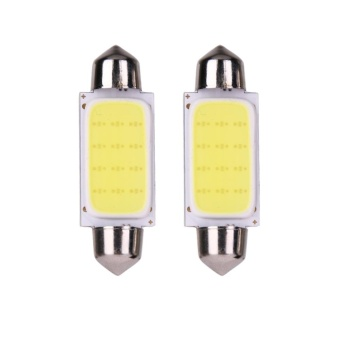 2pcs 41mm COB SMD LED 12V Car Reading Bulb Map Light (white light)- intl