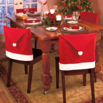 2PCS 6x Christmas Chairs Back Cover Dinner Table Santa Hat Home Party Xmas Decor Gift - intl - 3