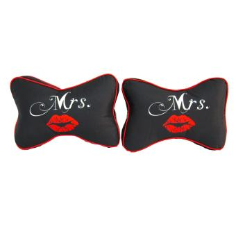 2pcs Car Seat Head Neck Rest Cushion Headrest Pillow with Design