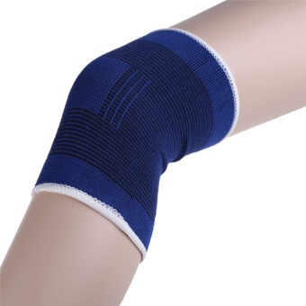 2pcs Knee Brace Support Leg Arthritis Injury Gym Sleeve Elastic Bandage Pad Knees Protector muscle joints One Size - intl
