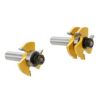2pcs Matched Tongue and Groove Router Bit - intl
