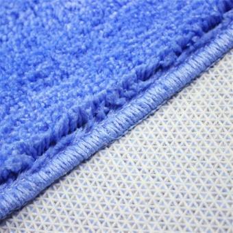 2Pcs Set Solid Color Bath Mat Toilet Non Slip Bathroom Rug Waterproof Floor Carpet - intl - 5