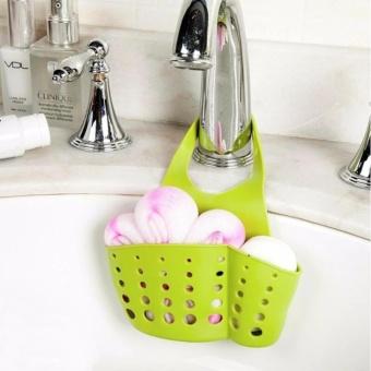 2pcs/set Hanging Drain Bag Basket Bath Storage Gadget Tools SinkHolder Shelves Soap Holder Kitchen Dish Cloth Sponge Holder Storage- intl - 3