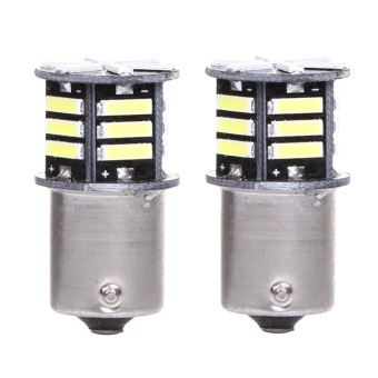 2x Canbus No Error White LED Tail Backup Reverse Light Bulb BA15S 1156 7506 - intl