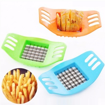 2x French Fry Potato Chip Cut Cutter Fruit Slicer Chopper ChipperBlade Stainless Steel - intl