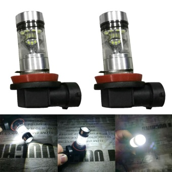 2X H8 H11 6500K 100W 20LED HID White 2323 Fog Driving DRL LightBulbs - intl