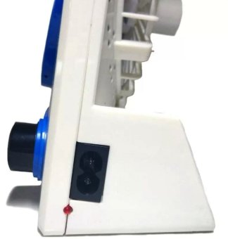 3 in 1 Rechargeable Solar Light Fan (White/Blue) - 3