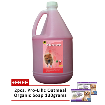 3 in 1 Shampoo, Conditioner and Cologne 1gallon (Raspberry) withFree 2pcs. Prolific Oatmeal Organic Soap 130g