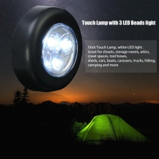 3 LEDs Battery Powered Stick Tap Touch Light Lamp Bedside Tent Home - intl Philippines