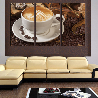 3 Panel Coffee Wall Art Picture Modern Painting Canvas HomeDecoration Living Room Canvas Print--Large Canvas Art (No Frame) Price Philippines