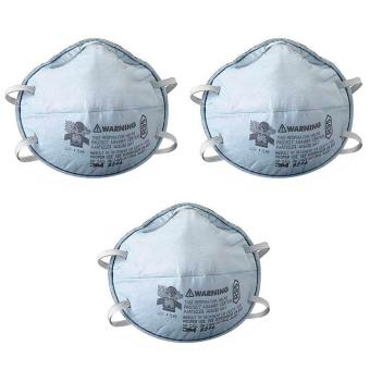 3 PCS. 3M 8246 Particulate Respirator Disposable Face Mask R95 w/Nuisance Level Acid Gas Relief