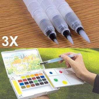 3 Pcs Refillable Ink Color Pen Water Brush Pen Office Stationery Refillable Ink Color Pen Water Brush Pen Office Stationery size:L - intl