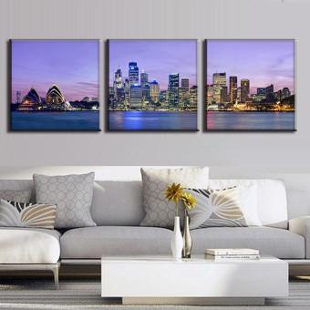 3 Pcs/Set The Night Of Sydney Landscape Canvas Painting Wall ArtPicture Modern Wall Paintings With Frame Top Home Decoration (NoFrame) - intl