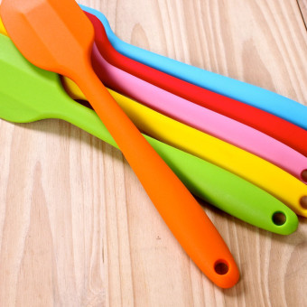 3 Pieces FDA Silicone Baking Spatulas Color Random - Intl - 3