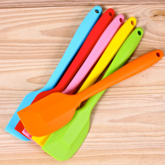 3 Pieces FDA Silicone Baking Spatulas Color Random - Intl