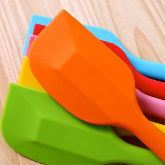 3 Pieces FDA Silicone Baking Spatulas Color Random - Intl - 2