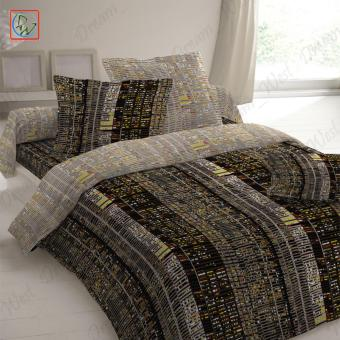 3 Pieces Fitted Sheet Set Beddings West Street Queen Size Bedsheetby Canadian (Black/Brown) Price Philippines
