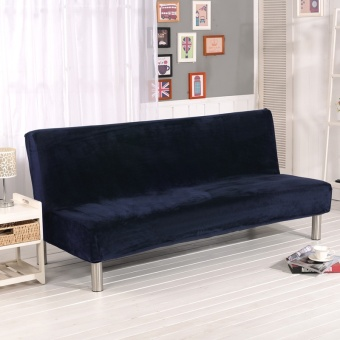 3-Seat Plush Sofa Cover Slipcover Armless Settee Couch ProtectorElastic Sofa Bed Cover - intl