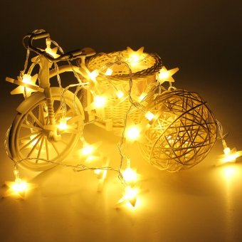 30 LED Stars Wedding Christmas Party Tree String Light Decor (Warm white) - picture 2