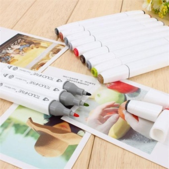 30 PCS Color Paint Graphic Art Twin Nib Alcohol Based Ink PenMarker Point Pen Set with Black Storage Bag Pen Shell - intl - 5