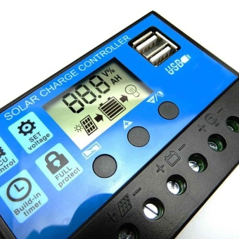 30A PWM LCD display Dual USB Solar Panel Battery Regulator Charge Controller - intl