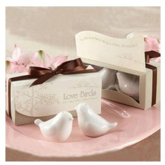 30Boxes Ceramic Love Birds Salt and Pepper Shaker Wedding Favors
