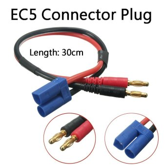 30CM 4mm Plug To EC5 Banana Male Connector Adapter Lead Battery Charge Cable 12# - intl